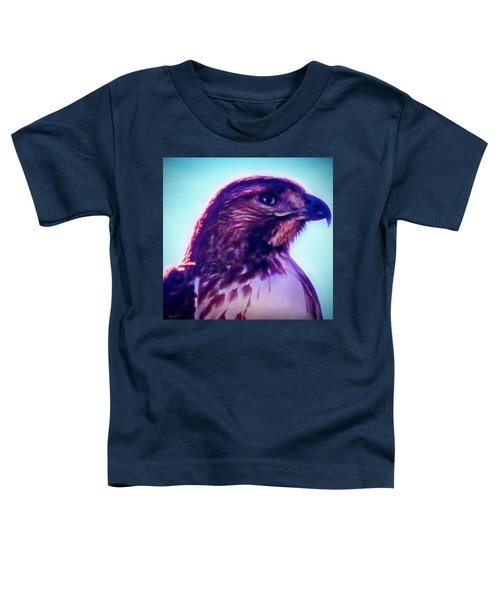 Ak-chin Red-tailed Hawk Portrait Toddler T-Shirt