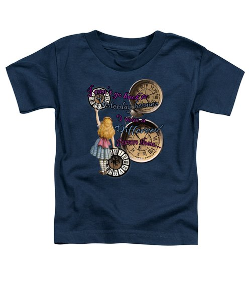Alice In Wonderland Travelling In Time Toddler T-Shirt