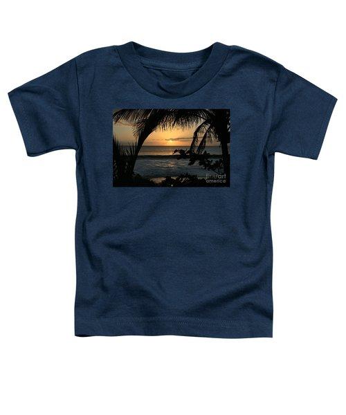Aloha Aina The Beloved Land - Sunset Kamaole Beach Kihei Maui Hawaii Toddler T-Shirt