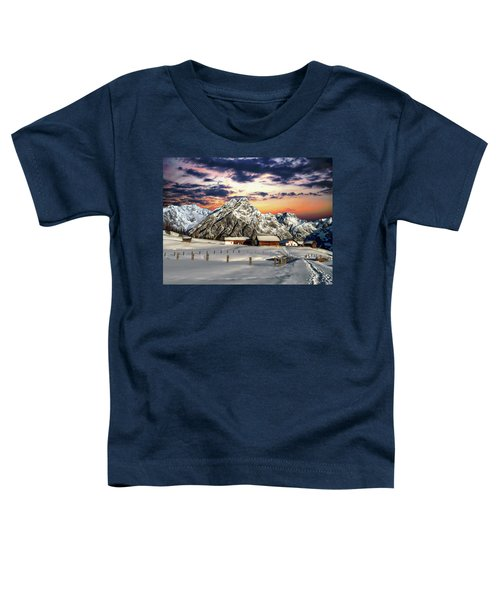 Alpine Winter Scene Toddler T-Shirt