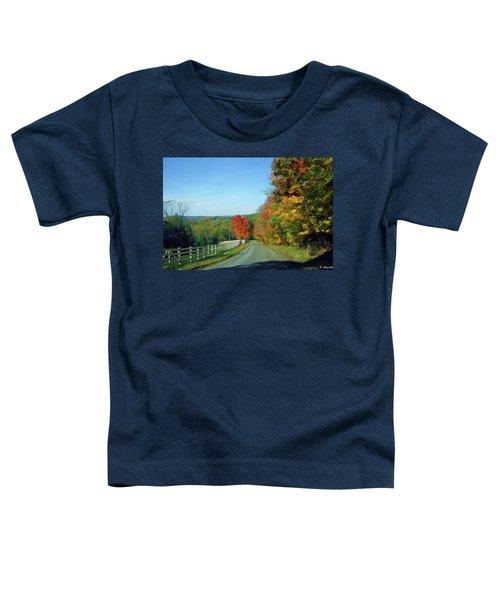 An Autumns Drive-oil   Toddler T-Shirt