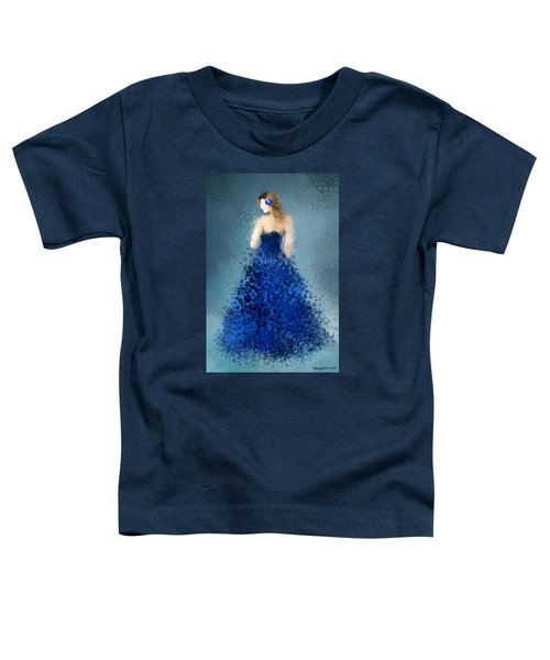 Toddler T-Shirt featuring the digital art Angelica by Nancy Levan
