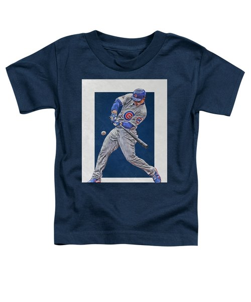 Anthony Rizzo Chicago Cubs Art 1 Toddler T-Shirt