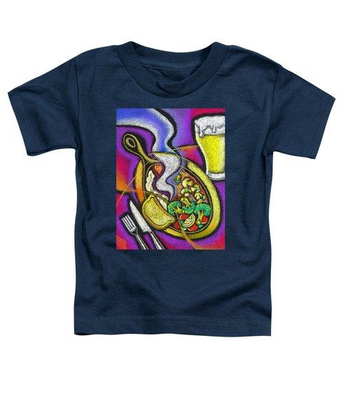 Appetizing Dinner Toddler T-Shirt by Leon Zernitsky