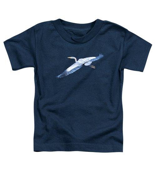 Great Blue Heron Flight Toddler T-Shirt
