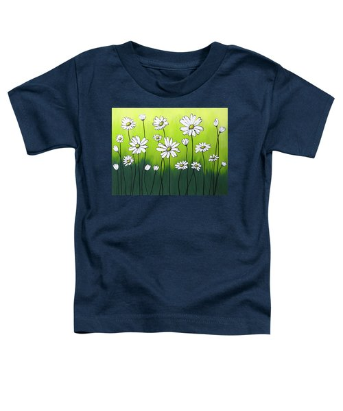 Daisy Crazy Toddler T-Shirt by Teresa Wing