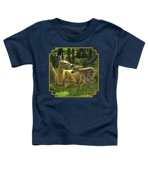Whitetail Deer - First Spring Toddler T-Shirt