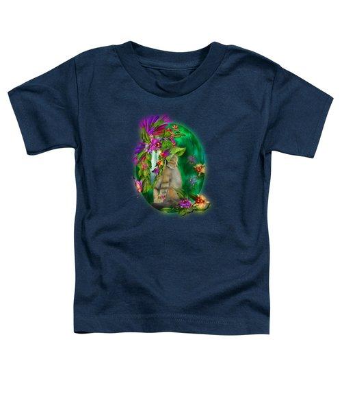Cat In Tropical Dreams Hat Toddler T-Shirt