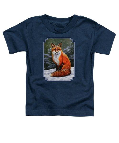 Snow Fox Toddler T-Shirt