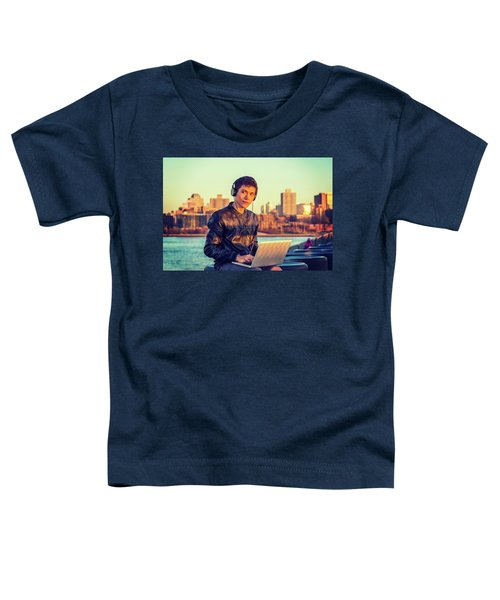 Asian American College Student Traveling, Studying In New York Toddler T-Shirt