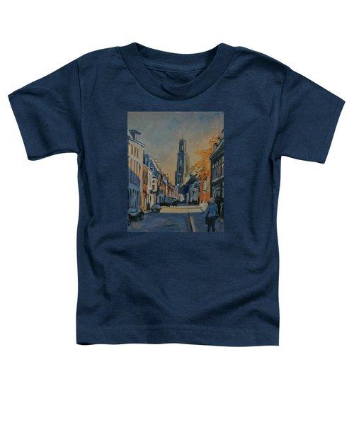 Autumn In The Lange Nieuwstraat Utrecht Toddler T-Shirt by Nop Briex