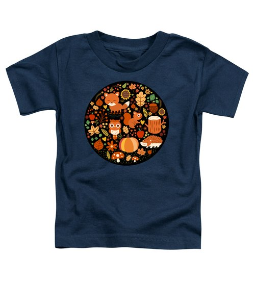 Autumn Party For Forest Friends Toddler T-Shirt