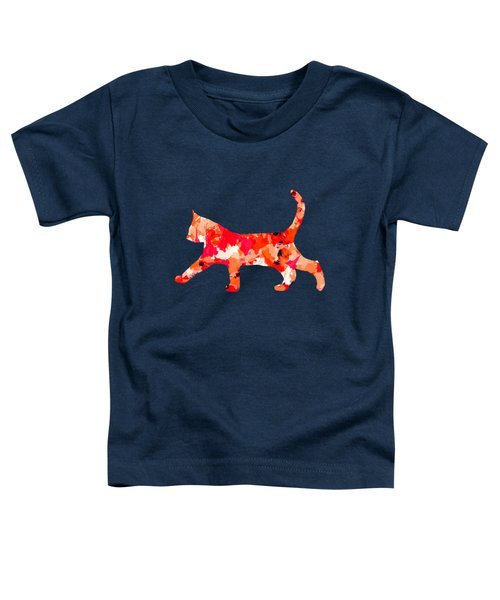 Background Colour Choice Cat Toddler T-Shirt