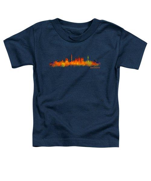 Barcelona City Skyline Hq V2 Toddler T-Shirt by HQ Photo