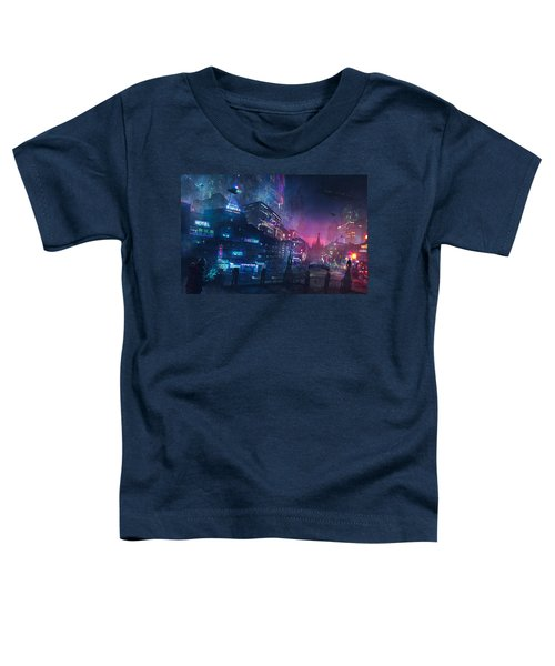 Barcelona Smoke And Neons Sant Pau I La Sagrada Familia Toddler T-Shirt