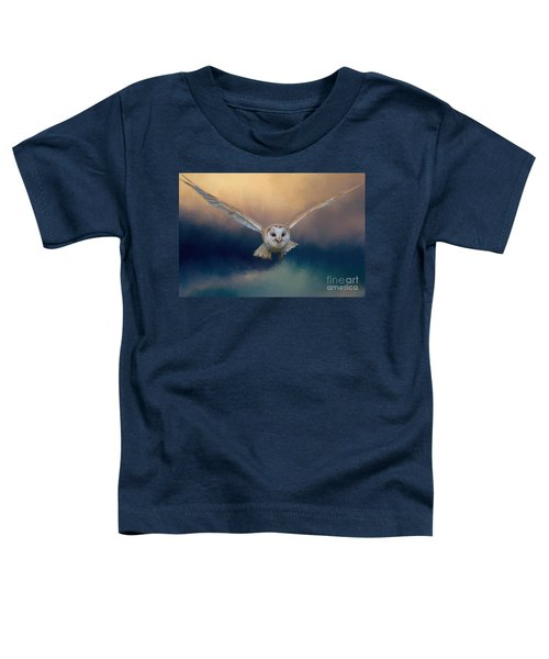 Barn Owl In Flight Toddler T-Shirt
