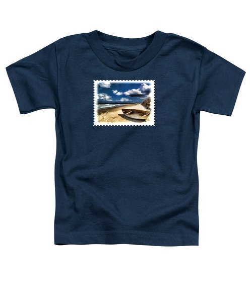 Beached Boat Before The Storm Toddler T-Shirt
