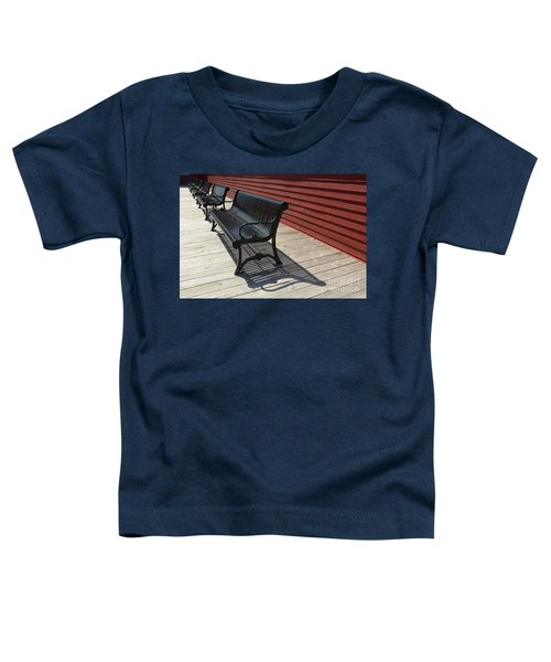 Bench Lines And Shadows 0841 Toddler T-Shirt