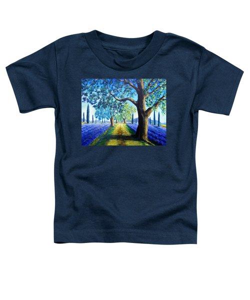Between The Lavender Fields Toddler T-Shirt