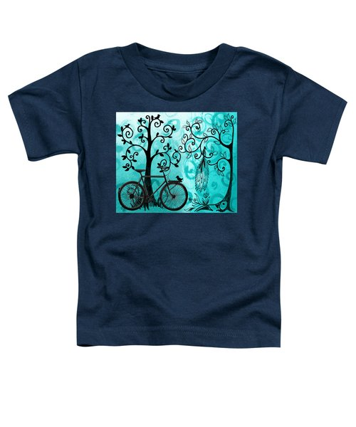 Bicycle In Whimsical Forest Toddler T-Shirt