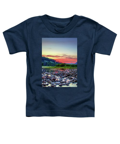 Big Hole River Sunset Toddler T-Shirt