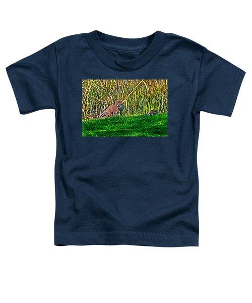Big Yawn By Little Cub Toddler T-Shirt by Miroslava Jurcik