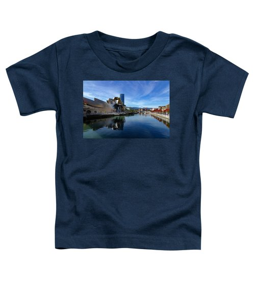 Bilbao In Autumn With Blue Skies Next To The River Nervion Toddler T-Shirt