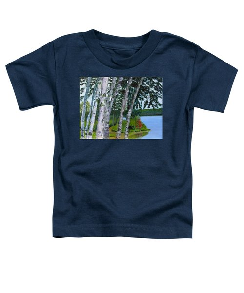 Birches At First Connecticut Lake Toddler T-Shirt