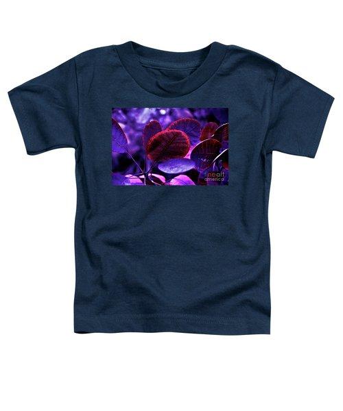 Bleeding Violet Smoke Bush Leaves - Pantone Violet Ec Toddler T-Shirt