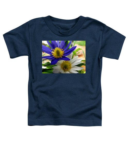Blue And White Anemones Toddler T-Shirt