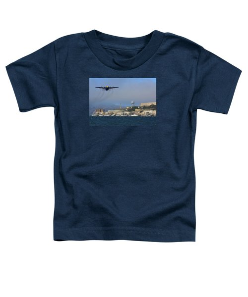 Blue Angels C130 Fat Albert Passes Alcatraz Toddler T-Shirt