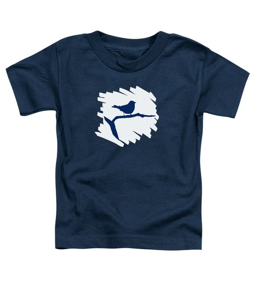 Blue Bird Silhouette Modern Bird Art Toddler T-Shirt