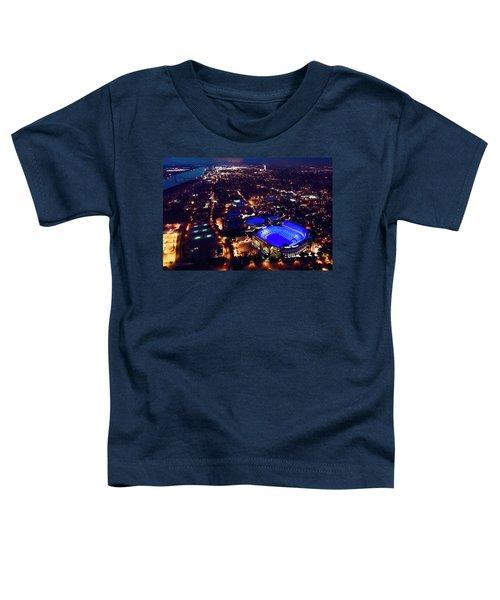 Blue Lsu Tiger Stadium Toddler T-Shirt