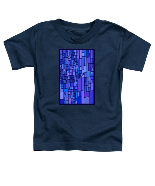 Blue Mondrian Toddler T-Shirt