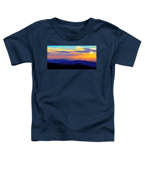 Blue Ridge Sunset, Virginia Toddler T-Shirt