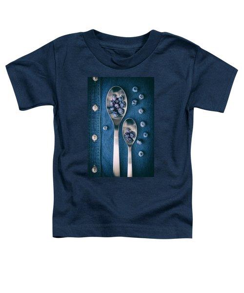 Blueberries On Denim I Toddler T-Shirt
