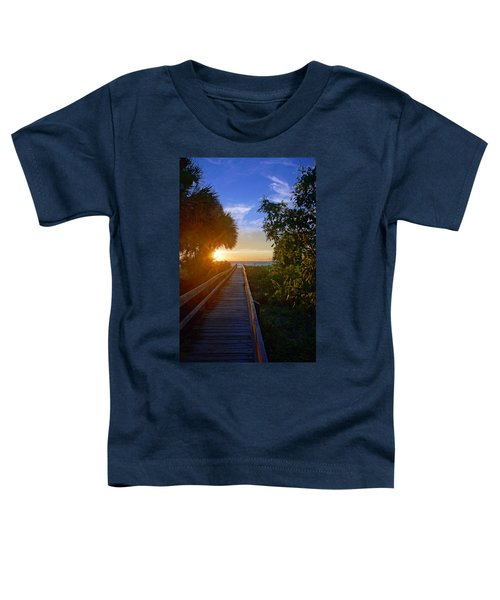 Sunset At The End Of The Boardwalk Toddler T-Shirt