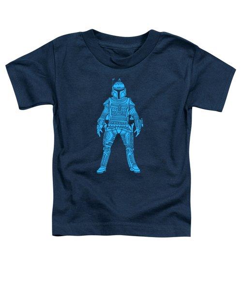 Boba Fett - Star Wars Art, Blue Toddler T-Shirt