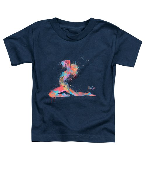 Bodyscape In D Minor - Music Of The Body Toddler T-Shirt by Nikki Marie Smith