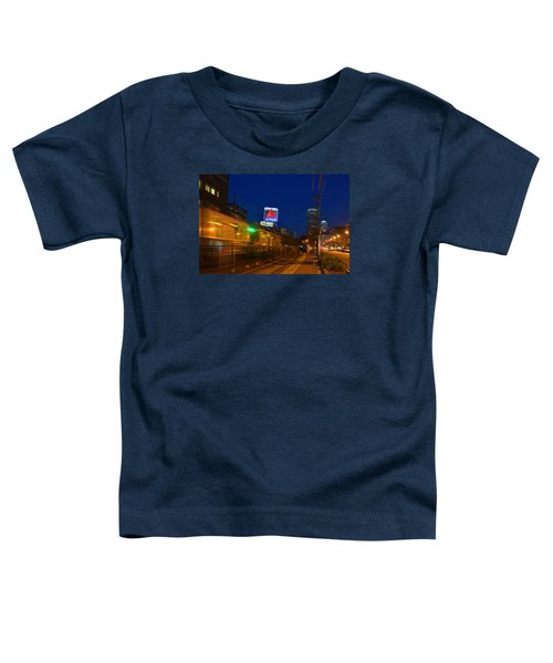 Boston Ma Green Line Train On The Move Toddler T-Shirt