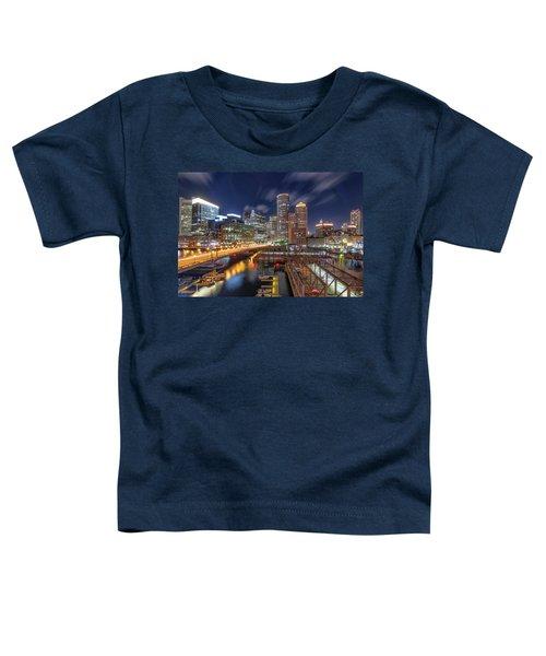 Boston's Skyline At Night Toddler T-Shirt