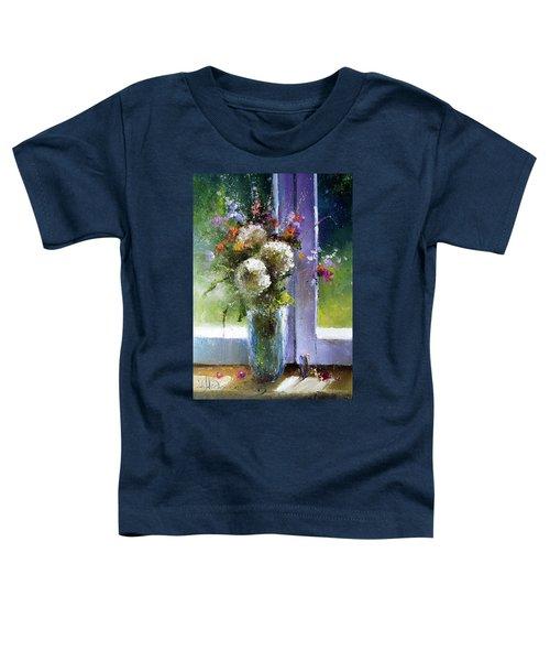 Bouquet At Window Toddler T-Shirt