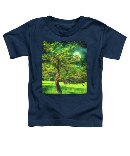Bowing To The Moon Toddler T-Shirt