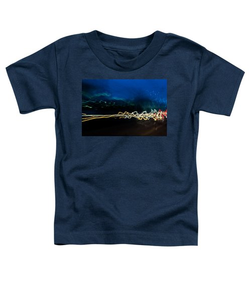 Car Light Trails At Dusk In City Toddler T-Shirt