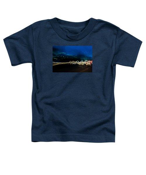 Car Light Trails At Dusk In City Toddler T-Shirt