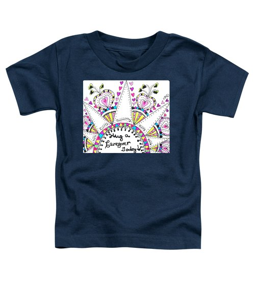 Caregiver Crown Of Hearts Toddler T-Shirt