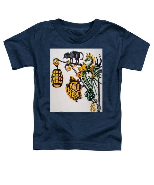 Caru Cu Bere - Antique Shop Sign Toddler T-Shirt by Dora Hathazi Mendes