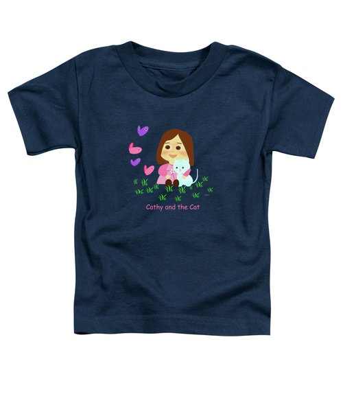 Cathy And The Cat With Butterflies  Toddler T-Shirt