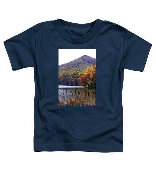 Cattails By Lake With Sharp Top In Background Toddler T-Shirt