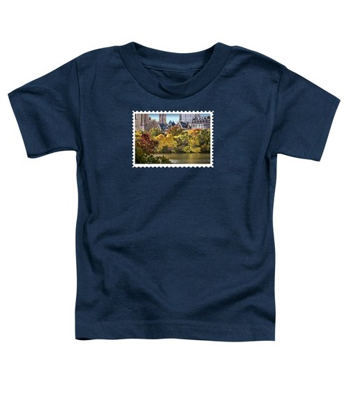 Central Park Lake In Fall Toddler T-Shirt by Elaine Plesser